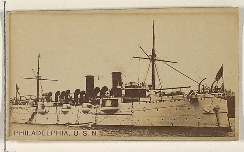 Philadelphia, U.S.N., from the Famous Ships series (N50) for Virginia Brights Cigarettes