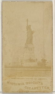 Bartholdi's Statue of Liberty, from the Views series (N53, variation 1) for Virginia Brights Cigarettes