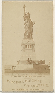 Bartholdi's Statue of Liberty, from the Views series (N53, variation 2) for Virginia Brights Cigarettes
