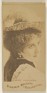 Miss Vaughan, from the Actors and Actresses series (N45, Type 1) for Virginia Brights Cigarettes