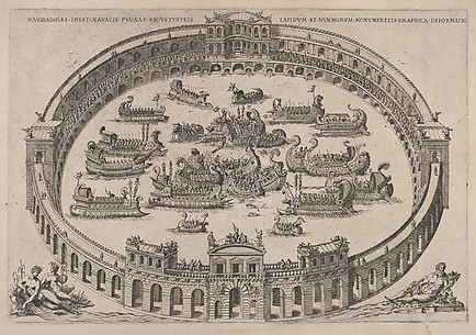 Roman Arena with a Mock Naval Battle