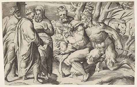 Two Satyrs Leading Silenus to King Midas