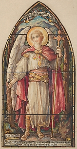 St. Raphael, the Guardian of Travelers: Design for a Stained Glass Window, Memorial to Canon McGrath