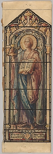 St. John the Divine, Representing Love: Design for a Stained Glass Window, First Presbyterian Church, Flemington, New Jersey (one of a set of seven)