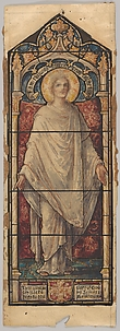Jesus Christ: Design for a Stained Glass Window, First Presbyterian Church, Flemington, New Jersey (one of a set of seven)