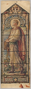 St. Peter the Great Apostle, Representing Courage: Design for a Stained Glass Window, First Presbyterian Church, Flemington, New Jersey (one of a set of seven)