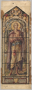 St. Philip, Representing Hope: Design for a Stained Glass Window, First Presbyterian Church, Flemington, New Jersey (one of a set of seven)