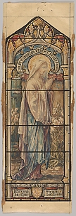 Mary the Mother of Jesus Representing Faith: Design for a Stained Glass Window, First Presbyterian Church, Flemington, New Jersey (one of a set of seven)