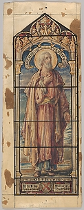 St. Andrew, Representing Obedience: Design for a Stained Glass Window, First Presbyterian Church, Flemington, New Jersey (one of a set of seven)