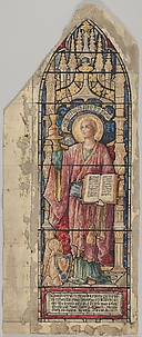 Saint John: Design for a Stained Glass Window, Christ's Church, Marlborough, New York