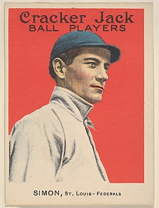 Simon, St. Louis, Federal League, from the Ball Players series (E145) for Cracker Jack