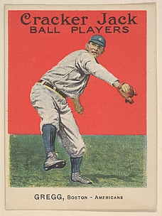 Gregg, Boston, American League, from the Ball Players series (E145) for Cracker Jack