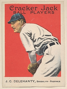 J.C. Delehanty, Brooklyn, Federal League, from the Ball Players series (E145) for Cracker Jack