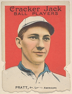 Pratt, St. Louis, American League, from the Ball Players series (E145) for Cracker Jack