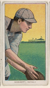 Moriarty, Detroit, American League, from the White Border series (T206) for the American Tobacco Company