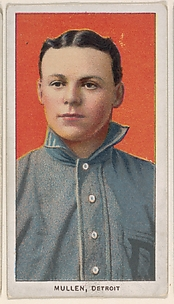 Mullen, Detroit, American League, from the White Border series (T206) for the American Tobacco Company