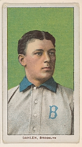 Dahlen, Brooklyn, National League, from the White Border series (T206) for the American Tobacco Company