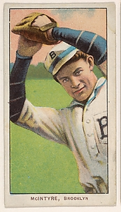 McIntyre, Brooklyn, National League, from the White Border series (T206) for the American Tobacco Company