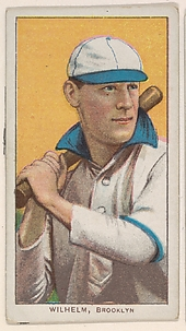 Wilhelm, Brooklyn, National League, from the White Border series (T206) for the American Tobacco Company