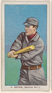 G. Brown, Chicago, National League, from the White Border series (T206) for the American Tobacco Company