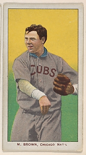 M. Brown, Chicago, National League, from the White Border series (T206) for the American Tobacco Company