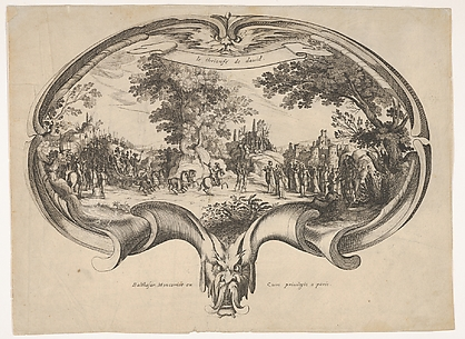 The Triumph of David, from a fan by Jacques Callot