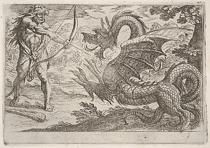 Hercules and the Serpent Ladon, from the Labors of Hercules