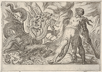 Hercules and the Hydra of Lerna, from the Labors of Hercules