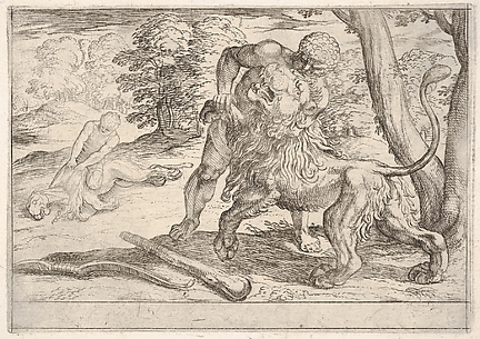 Hercules and the Nemean Lion, from the Labors of Hercules