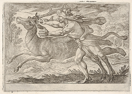 Hercules and the Hind of Mount Cerynea, from the Labors of Hercules