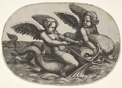 Putti and Dolphins