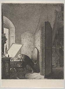 Rembrandt in His Studio