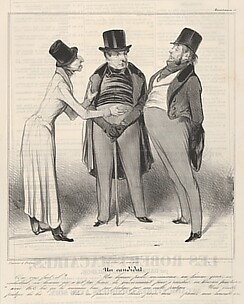 Un Candidat, plate 48 from the series Caricaturana, published in Le Charivari