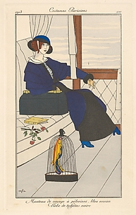 Manteau de voyage à pélerinez, from Costumes Parisiens