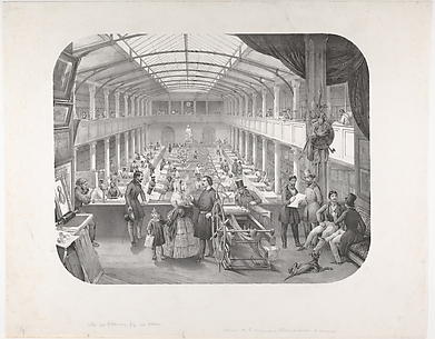 Interior of Lemercier's Lithographic Printing House