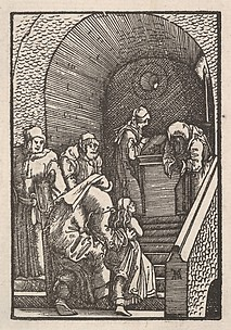 The Virgin Entering the Temple, from The Fall and Salvation of Mankind Through the Life and Passion of Christ