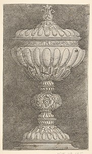 Covered Goblet with Grapes on the Stem