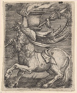 Centaur Carrying a Vase with Fire