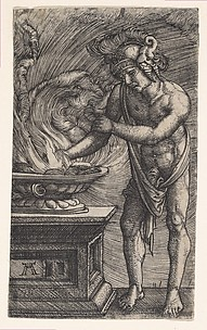 Mucius Scaevola Burning His Hand