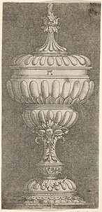 Covered Goblet with Three Pomegranates