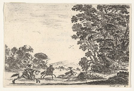 Deer Hunt, from Agréable diversité de figures