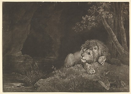 The Lyon (Recumbent Lion by a Pool)