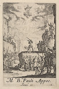 Martyrdom of Saint Paul, from The Little Apostles or the Martyrdom of the Apostles (Les Petits Apotres ou le Martyre des Apotres)