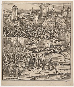 The Battle Near Teramundt (Teremonde), from Der Weisskunig
