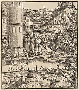The Surrender of the Venetian Townships, from Der Weisskunig