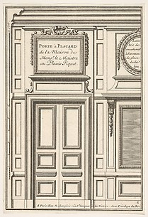 Cabinet door from the home of the Master of Plessis-Piquet (Porte à placard de la maison de Monsieur le Maître au Plessis Piquet), plate VI from L'Architecture à la Mode