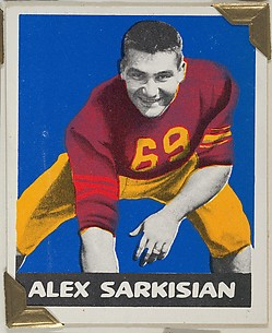 Alex Sarkisian, from the All-Star Football series (R401-2), issued by Leaf Gum Company