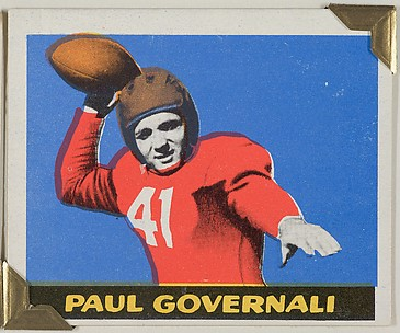 Paul Governali, from the All-Star Football series (R401-2), issued by Leaf Gum Company