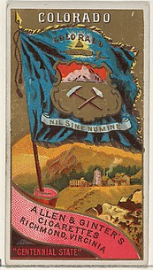 Colorado, from Flags of the States and Territories (N11) for Allen & Ginter Cigarettes Brands