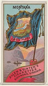 Montana, from Flags of the States and Territories (N11) for Allen & Ginter Cigarettes Brands